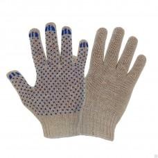 Перчатки ХБ с ПВХ 10 класс 32гр белые