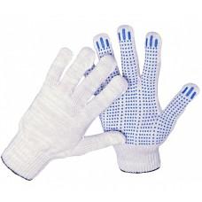 Перчатки ХБ с ПВХ 10 класс 40гр белые