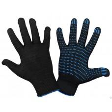Перчатки ХБ с ПВХ 10 класс 40гр черные