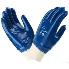 Перчатки с нитриловым покрытием манжет