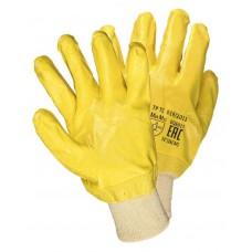 Перчатки с нитриловым покрытием желтые ЛАЙТ