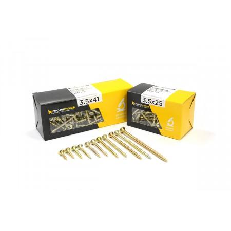 Саморез универсальный желтый 6,0х100мм 40шт