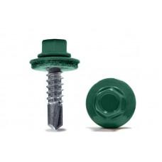 Саморезы кровельные зеленые 5,5х32мм Ral 6005
