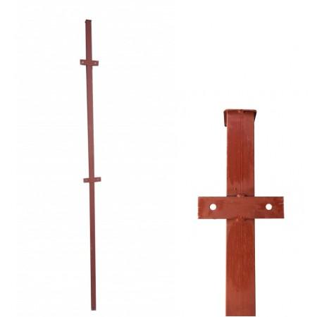 Столб металлический 3,0м 50х50х2,0мм грунт