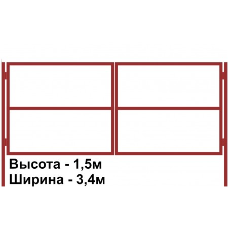 Ворота распашные каркас 1,5х3,4м