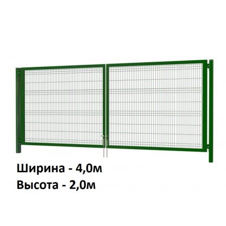 Ворота со сварной сеткой 2,0х4,0м